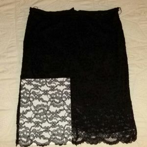 Maggy London lace skirt, size 16